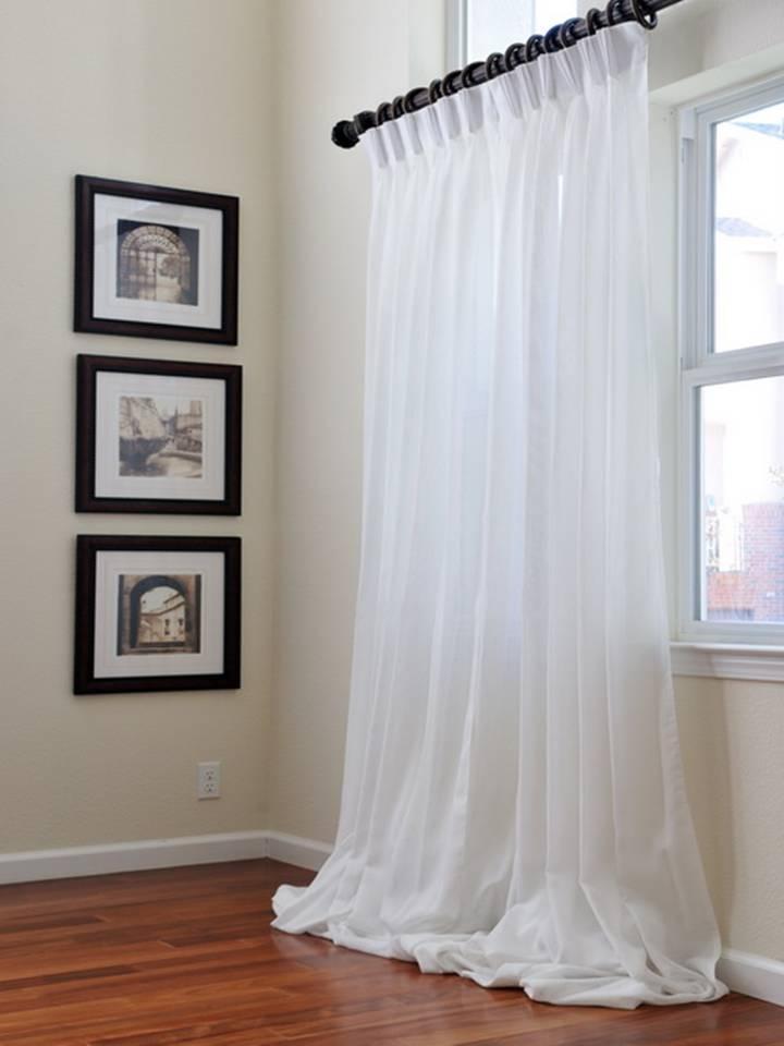 Белый тюль в интерьере фото