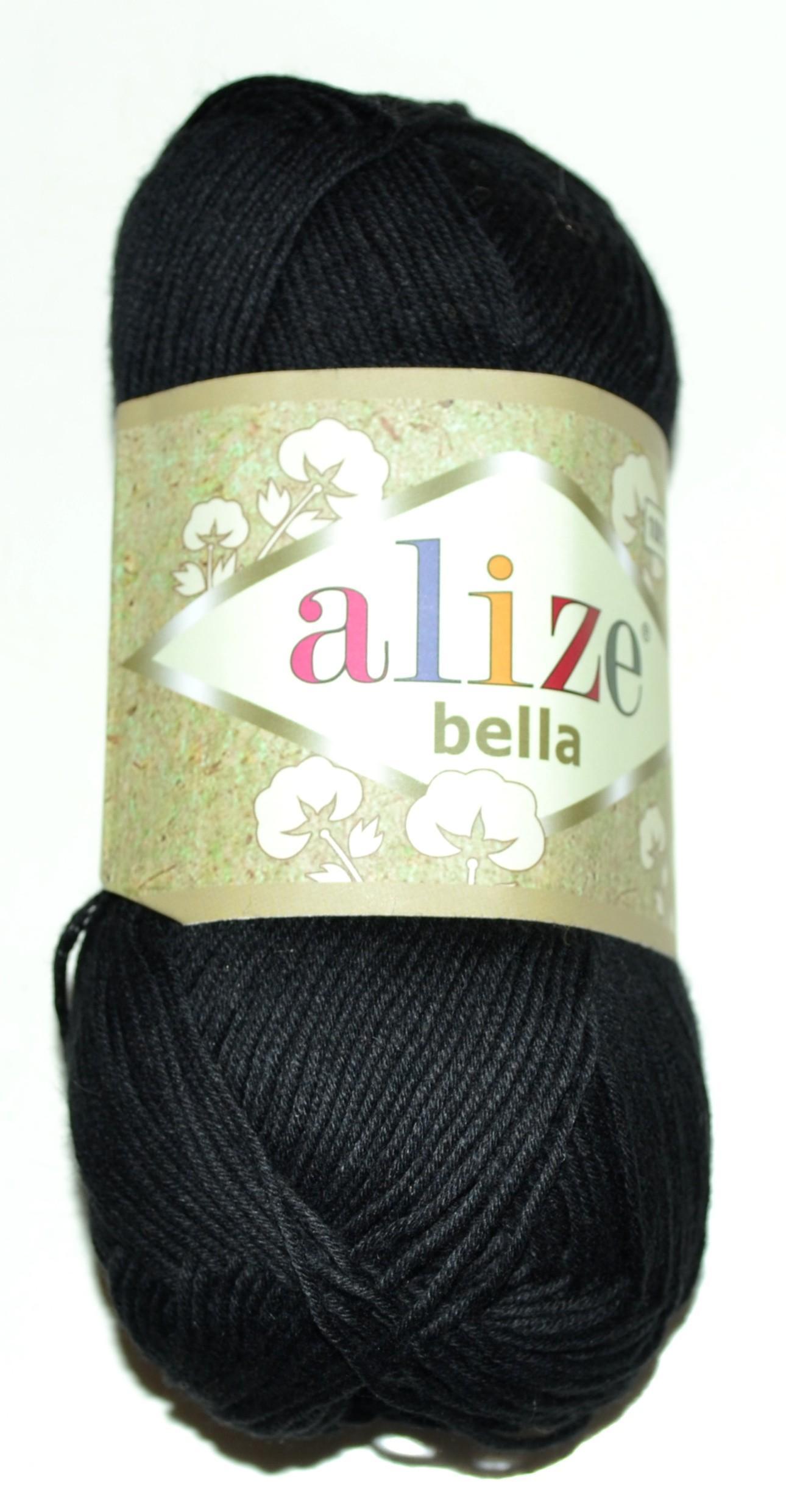 ebd7799e97b Купить ПРЯЖА ALIZE BELLA черный в интернет-магазине Домалетто ...